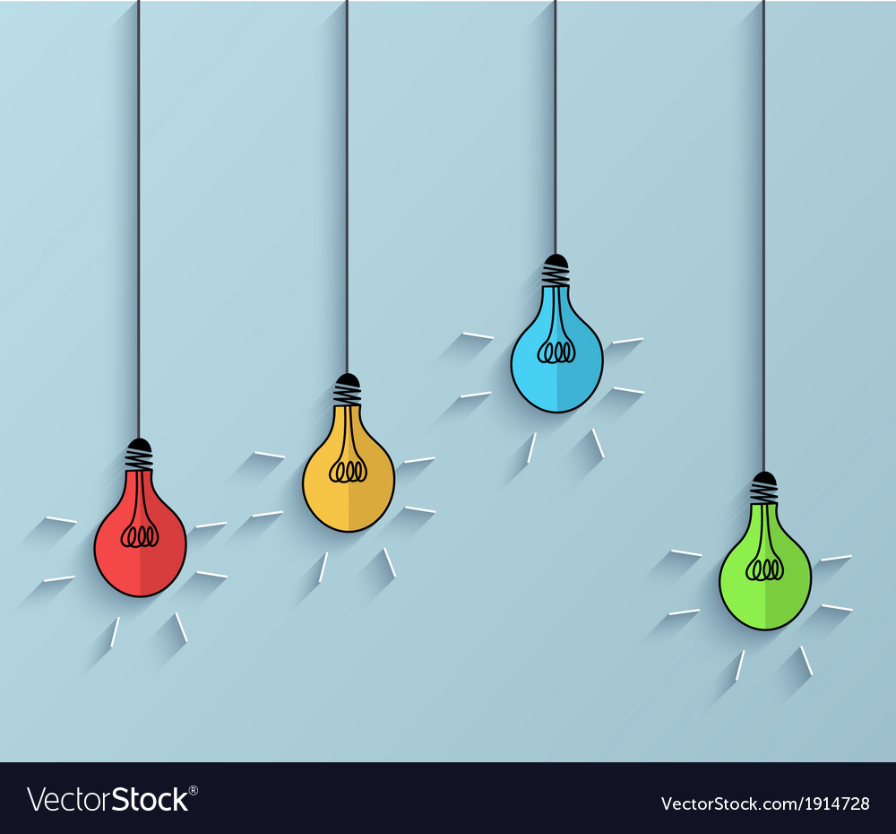 Flat idea icon background eps 10 vector | Price: 1 Credit (USD $1)