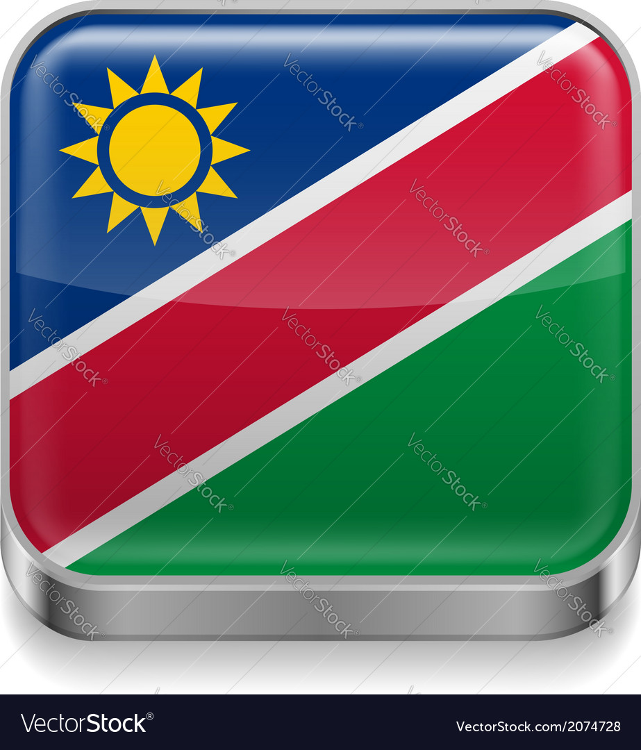 Metal icon of namibia vector | Price: 1 Credit (USD $1)