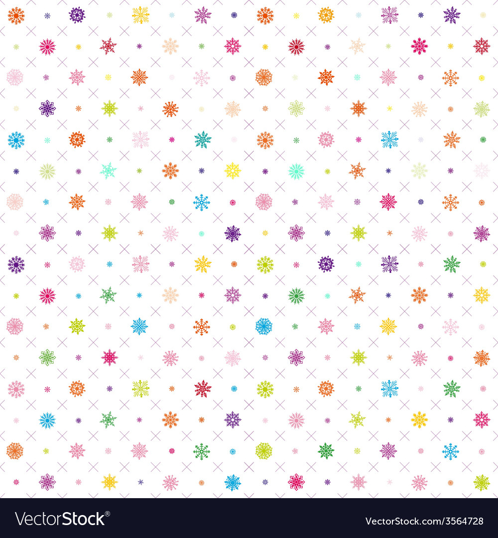 Pattern seamless wrapping wallpaper snowfall vector | Price: 1 Credit (USD $1)