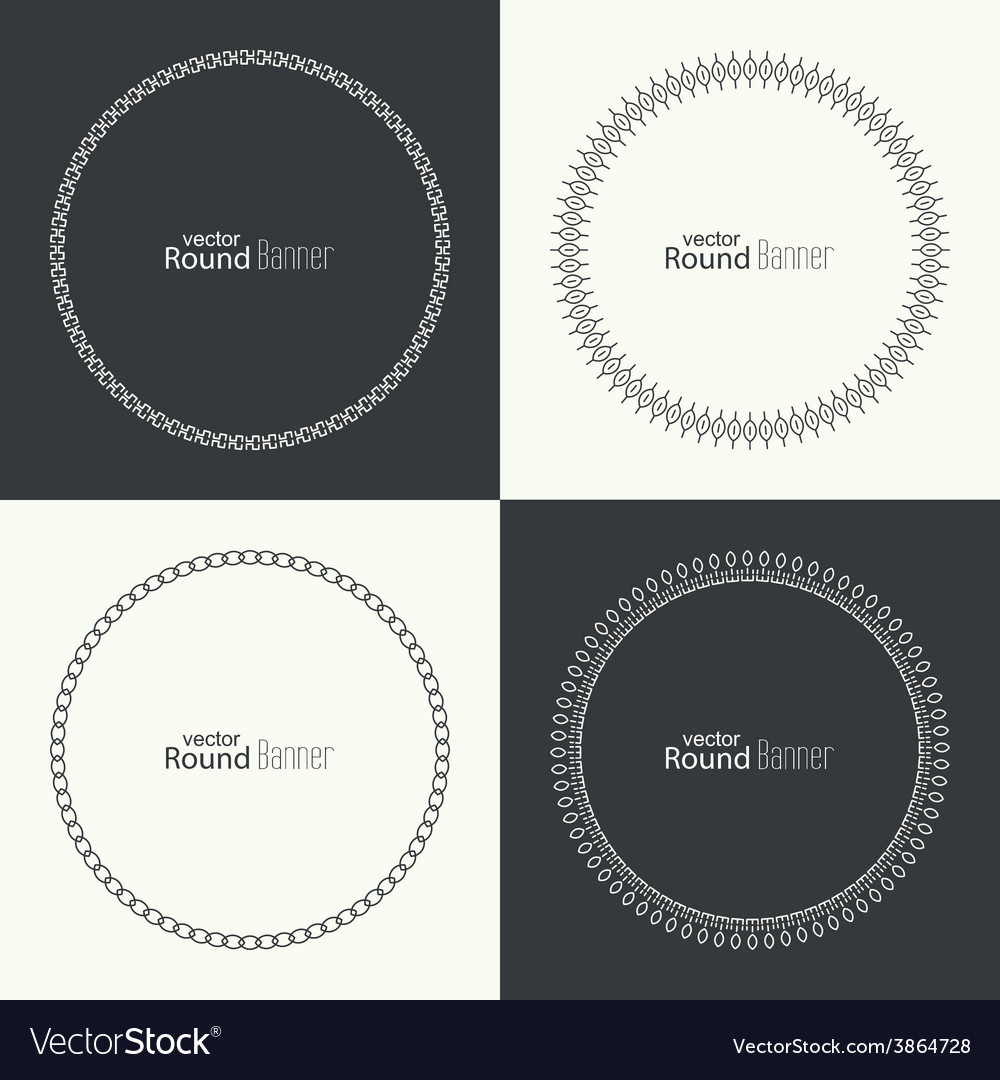 Set of round banners vector | Price: 1 Credit (USD $1)