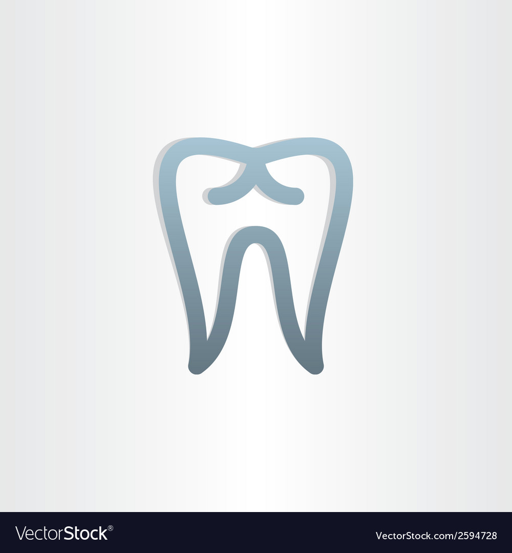 Tooth icon dental design vector | Price: 1 Credit (USD $1)