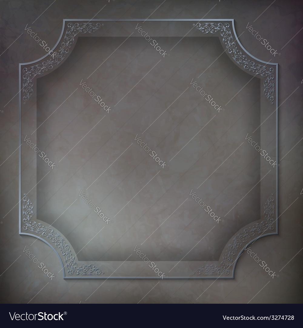 Vintage frame background vector | Price: 1 Credit (USD $1)