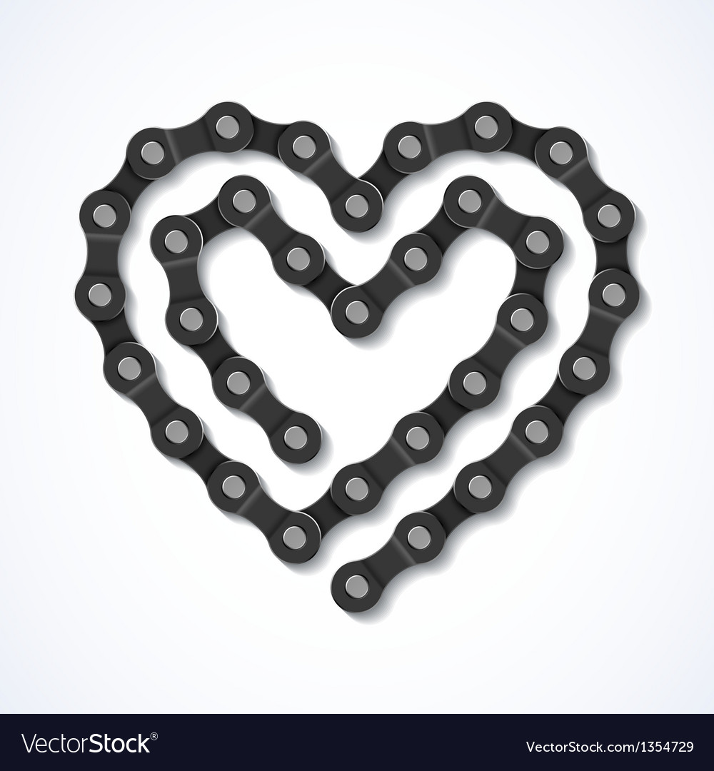 Bicycle chain heart vector | Price: 3 Credit (USD $3)