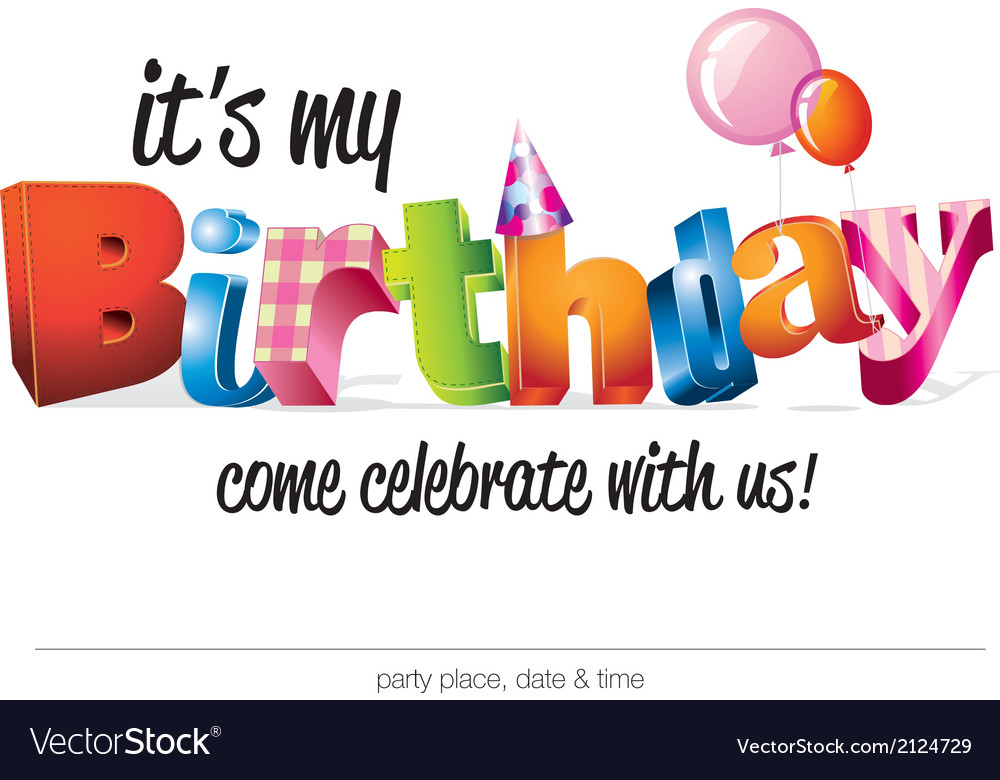 Birthday invites vector