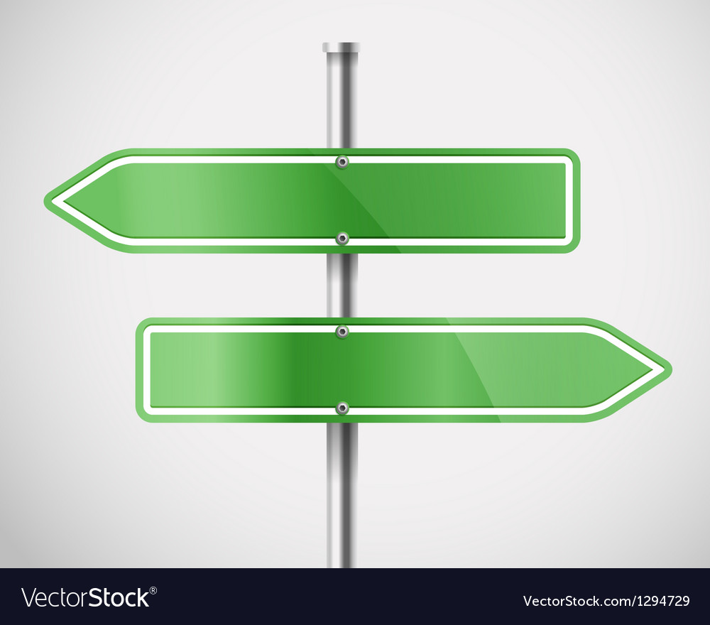 Blank green metal arrow boards vector | Price: 1 Credit (USD $1)
