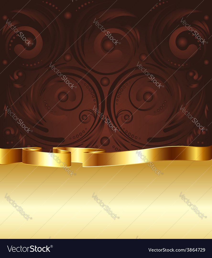 Brown and gold background4 vector | Price: 1 Credit (USD $1)