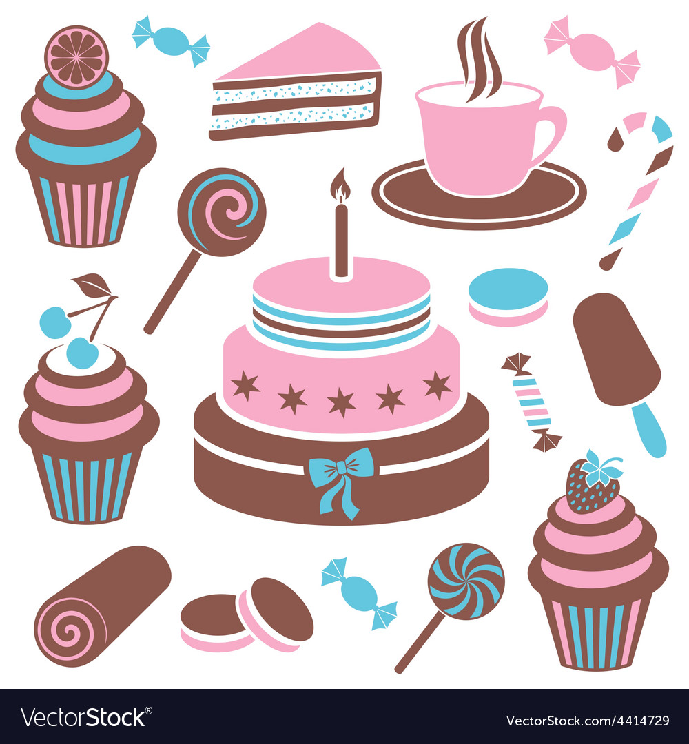 Desserts and sweets icon vector | Price: 1 Credit (USD $1)