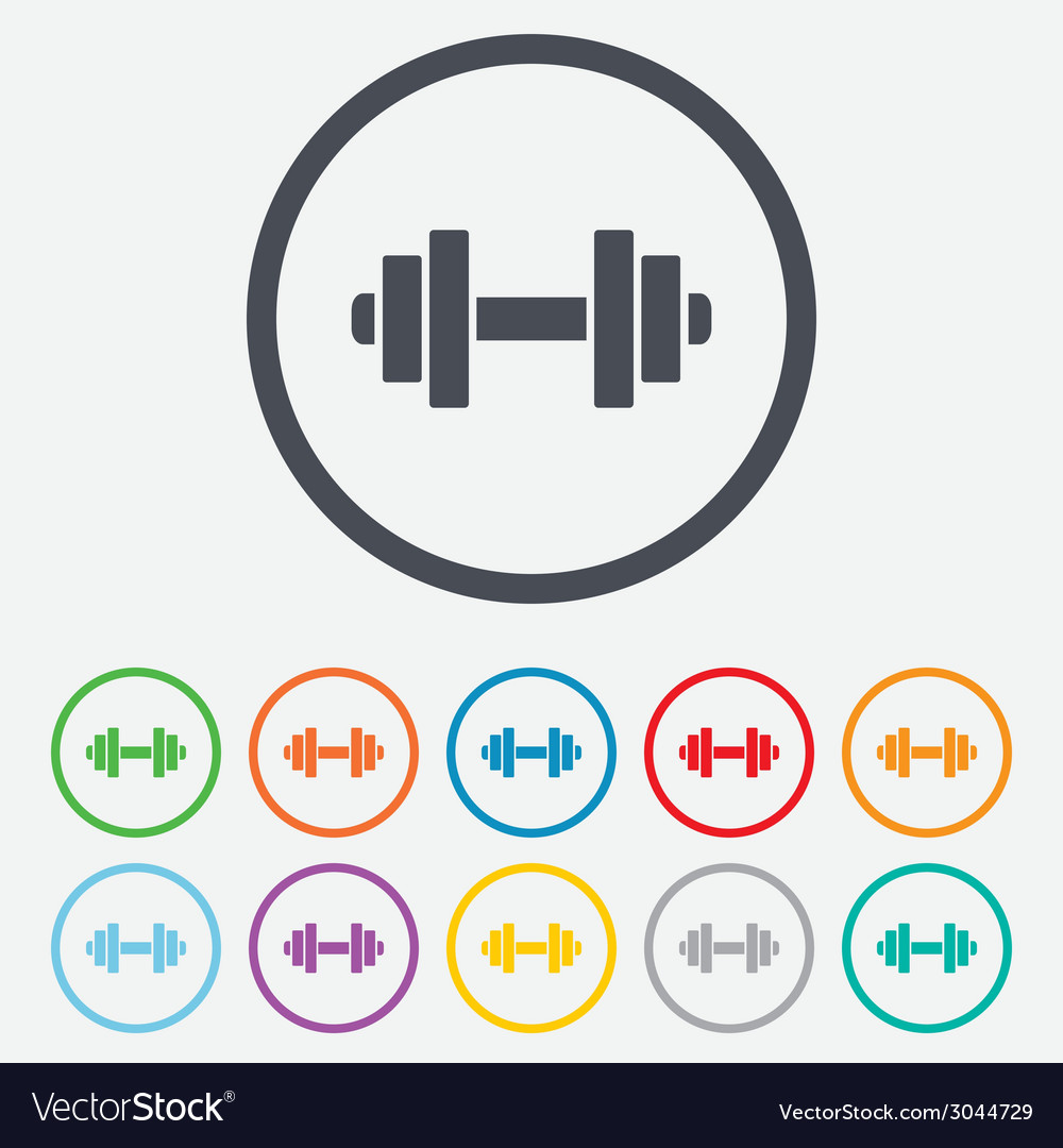 Dumbbell sign icon fitness symbol vector | Price: 1 Credit (USD $1)
