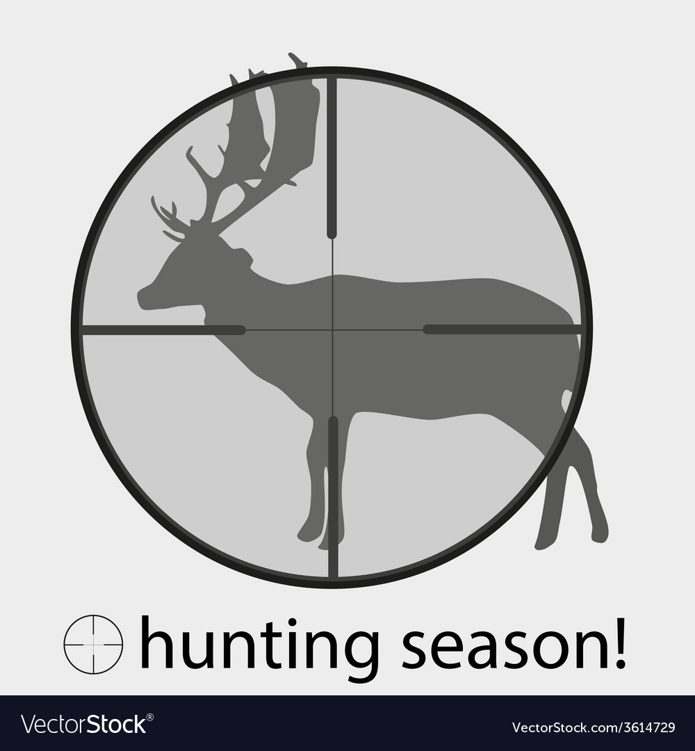 Hunting season with deer in gunsight eps10 vector | Price: 1 Credit (USD $1)