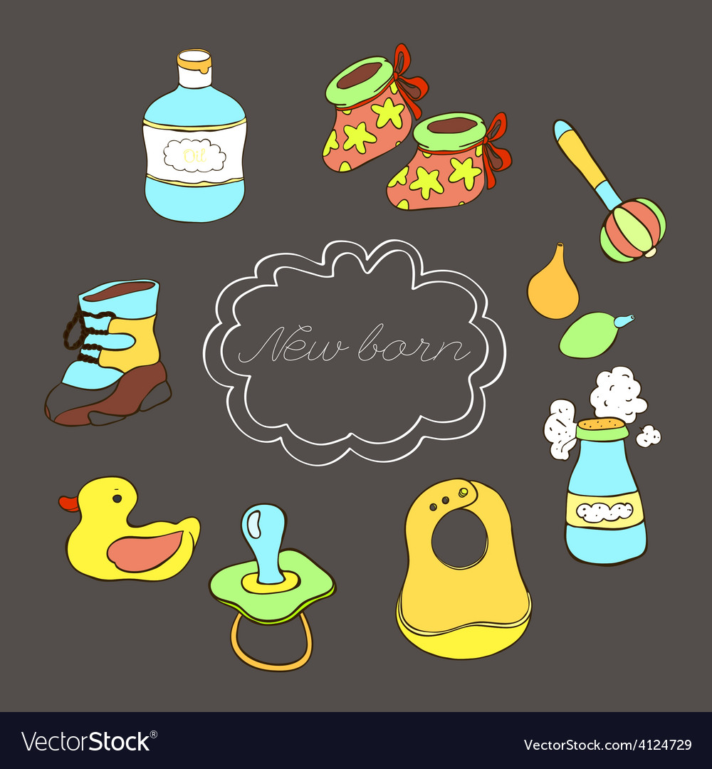 New born set color vector | Price: 1 Credit (USD $1)