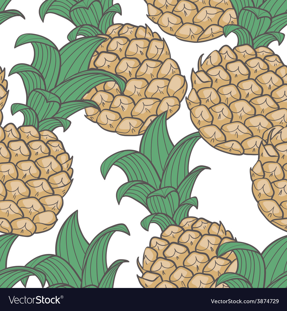 Pineapple seamless pattern vector   Price: 1 Credit (USD $1)