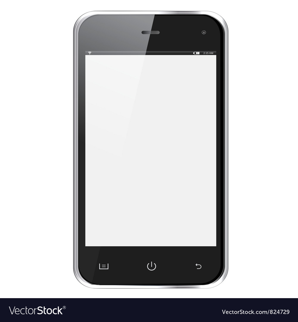 Realistic mobile phone vector | Price: 3 Credit (USD $3)