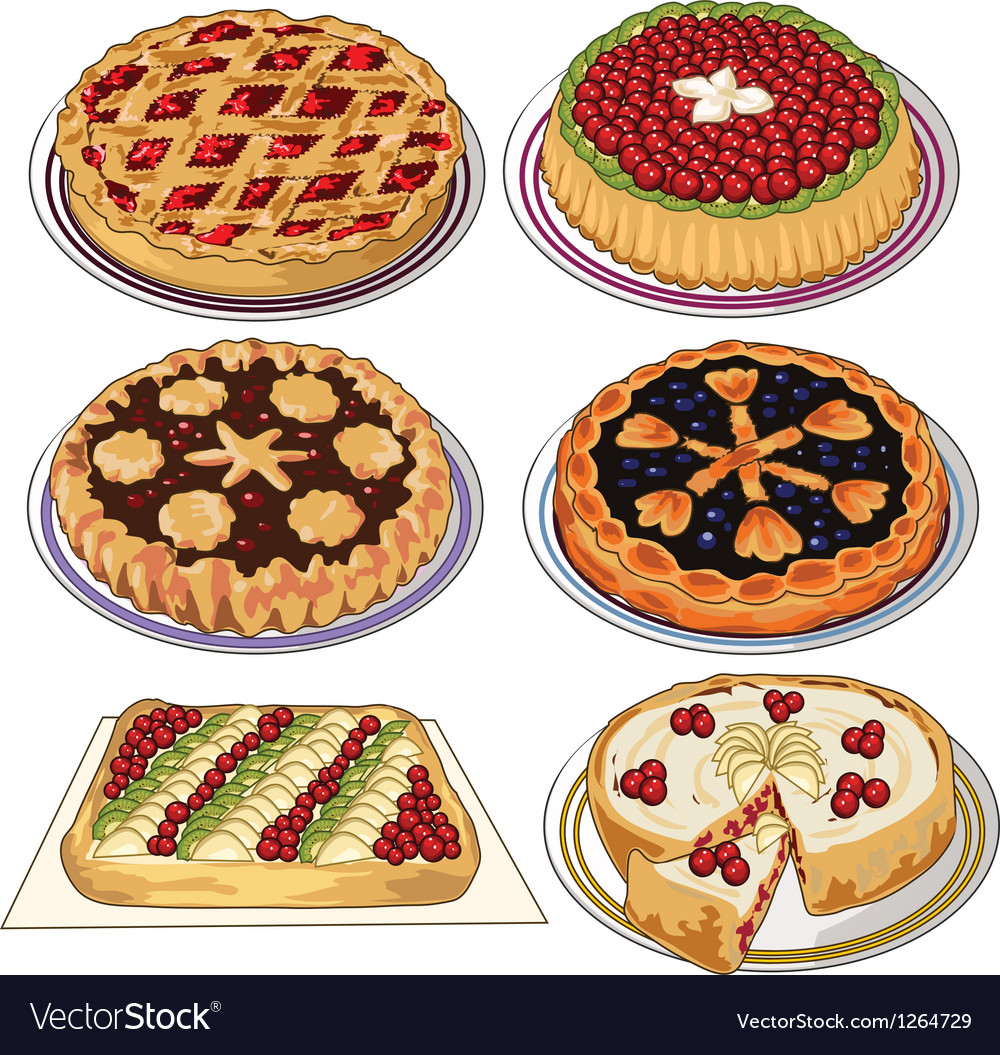 Set of pies vector | Price: 1 Credit (USD $1)