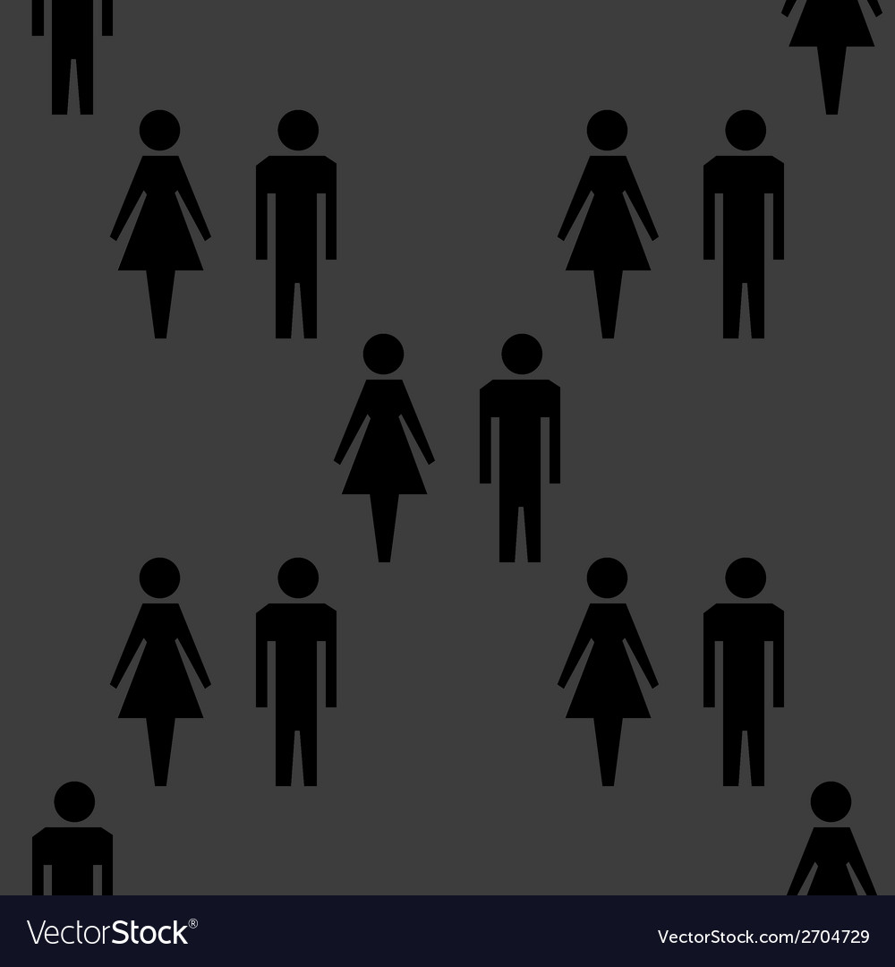 Suluet men women web icon flat design seamless vector | Price: 1 Credit (USD $1)