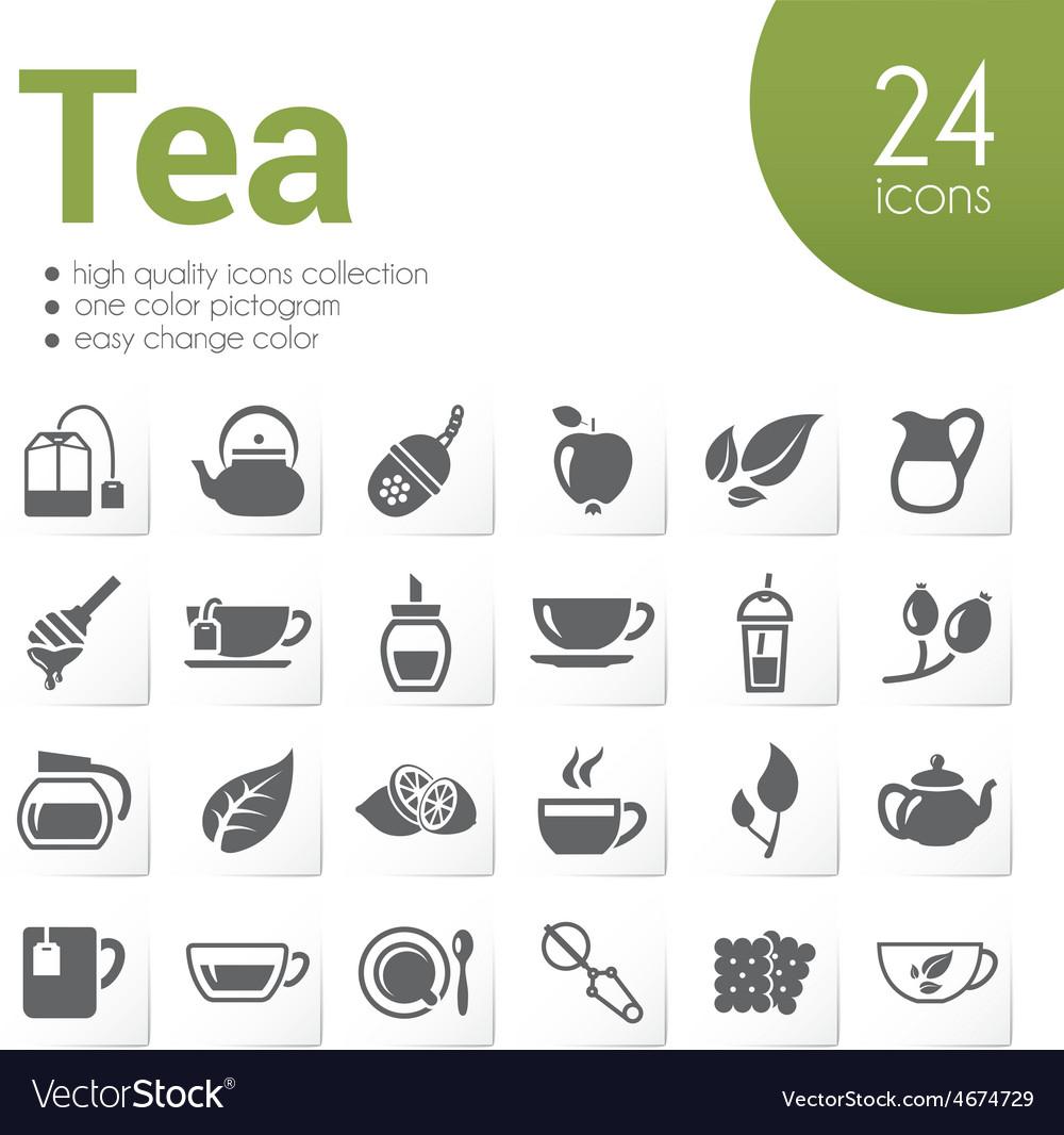 Tea icons vector | Price: 1 Credit (USD $1)