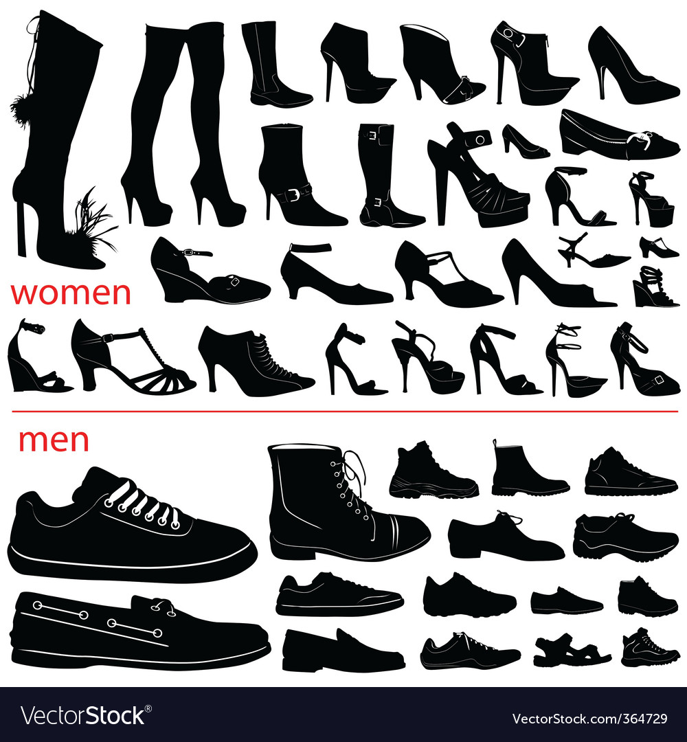 Women and men shoes vector | Price: 1 Credit (USD $1)