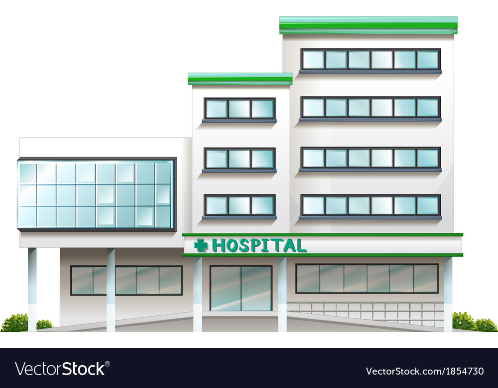 A hospital building vector | Price: 1 Credit (USD $1)