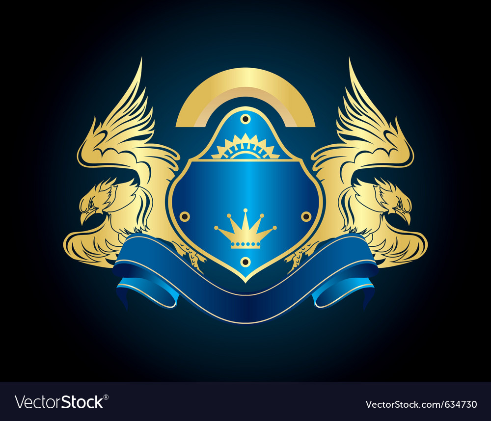 Eagle insignia vector
