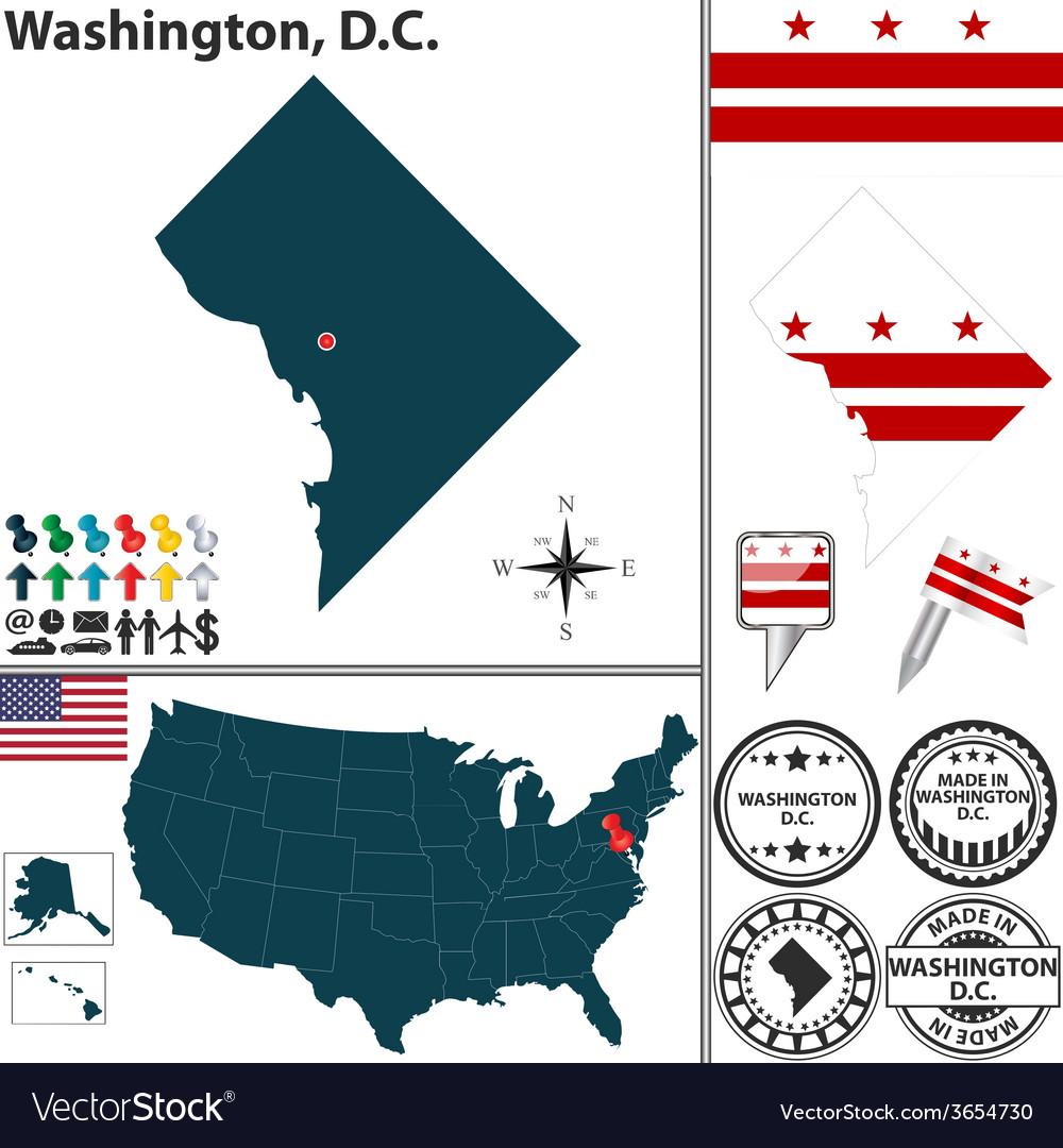 Map of washington dc vector   Price: 1 Credit (USD $1)