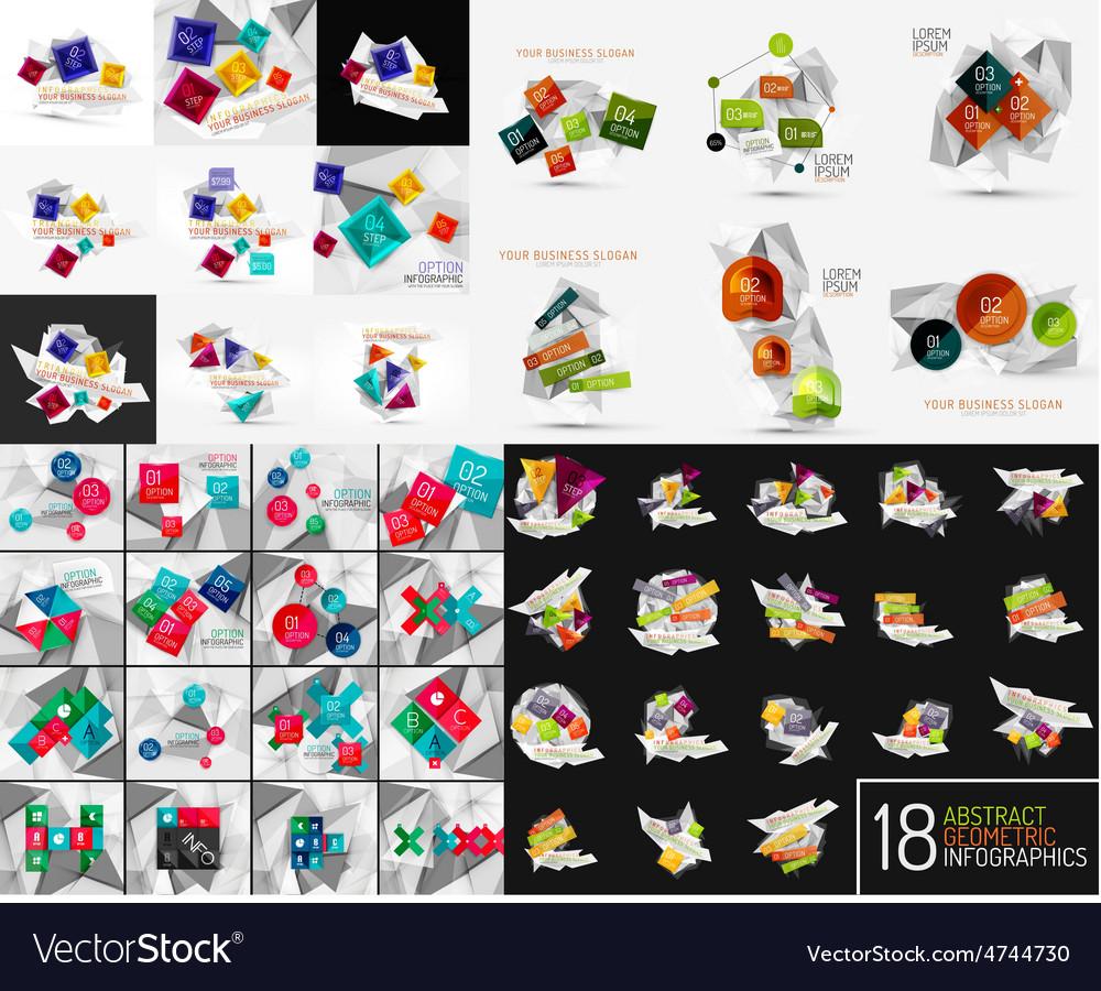 Mega set of modern business infographic vector | Price: 1 Credit (USD $1)