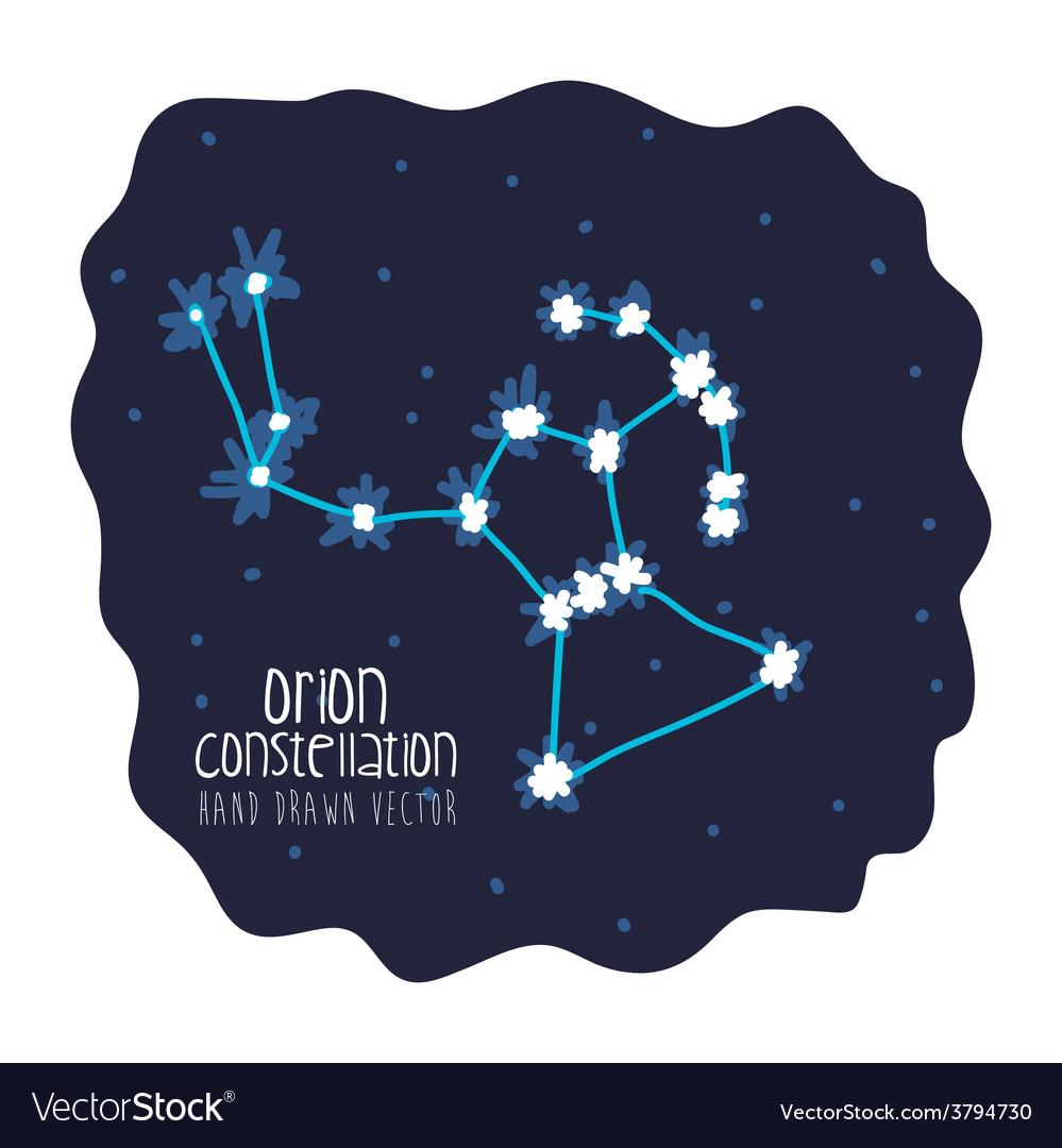 Orion constelation design vector | Price: 1 Credit (USD $1)