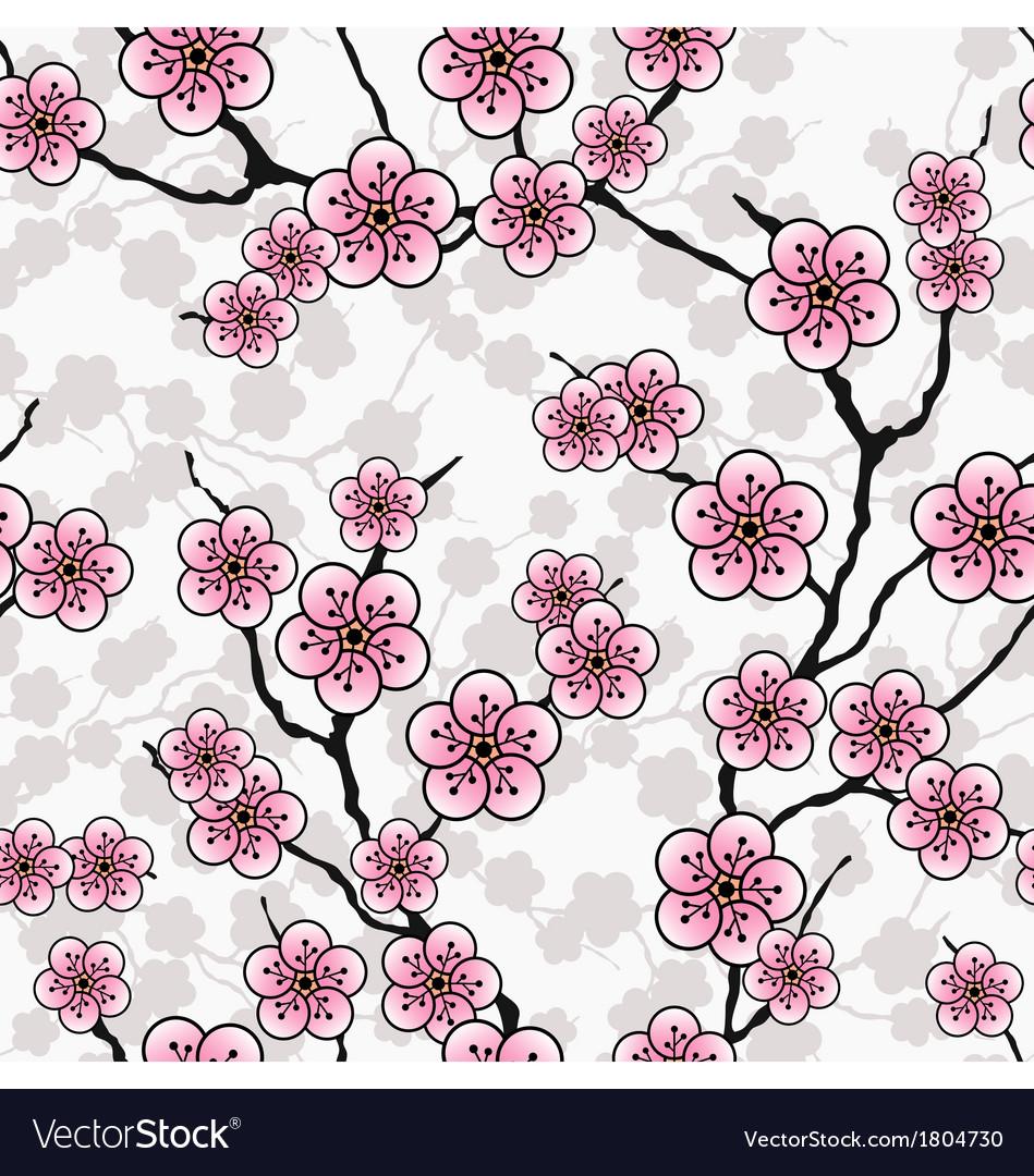 Seamless cherry wallpaper vector | Price: 1 Credit (USD $1)