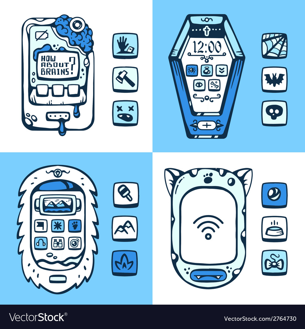 Set of detailed phones of the future with the vector | Price: 1 Credit (USD $1)
