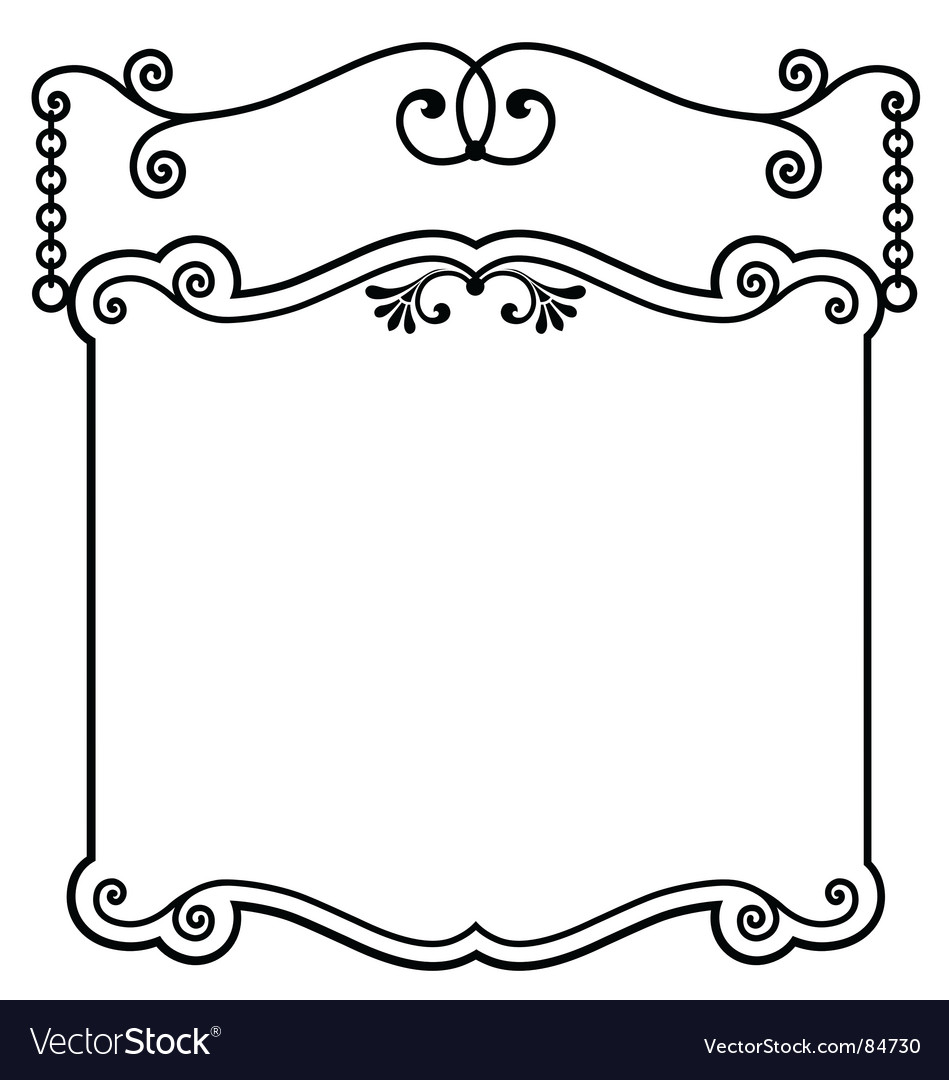 Sign panel white vector | Price: 1 Credit (USD $1)