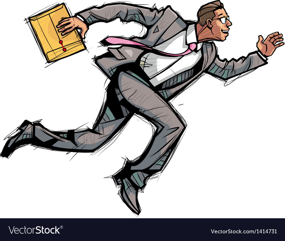 Businessman running vector | Price: 1 Credit (USD $1)