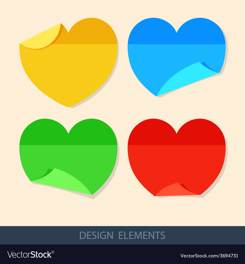 Colored stickers paper for notes in a flat style vector | Price: 1 Credit (USD $1)