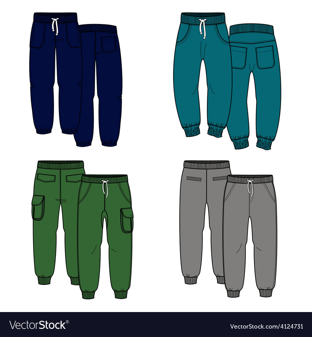 Four pants vector | Price: 1 Credit (USD $1)