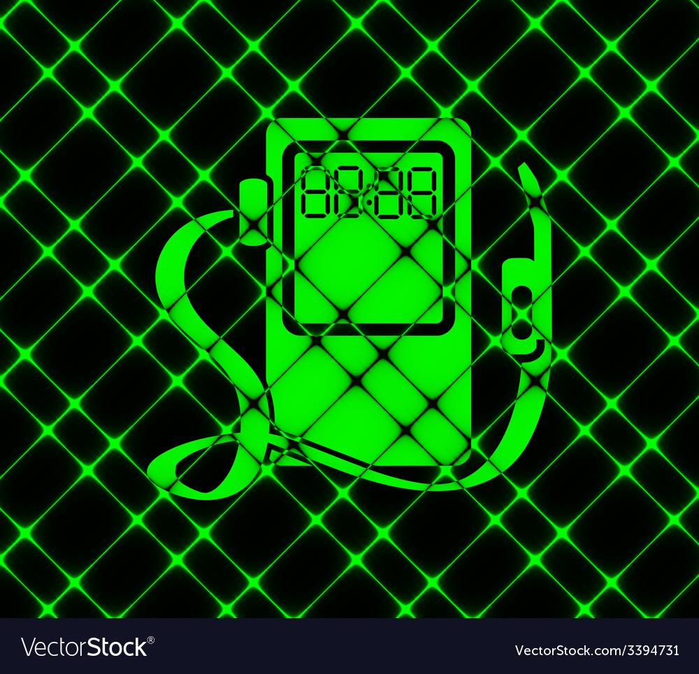 Gas fuel station icon symbol flat modern web vector | Price: 1 Credit (USD $1)