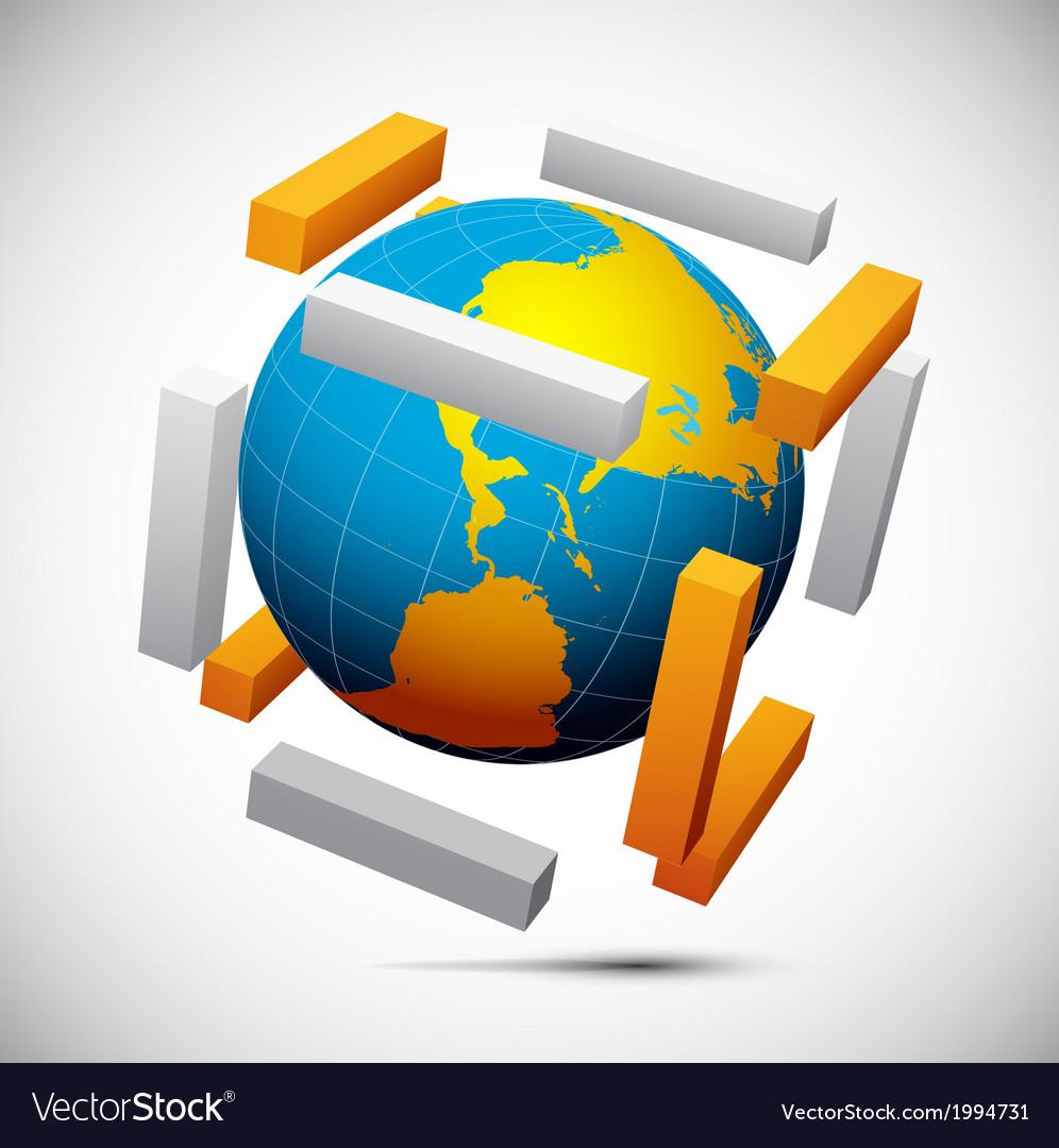 Globe vector | Price: 1 Credit (USD $1)