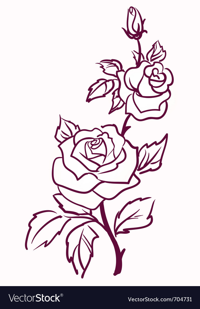 Pale roses vector | Price: 1 Credit (USD $1)