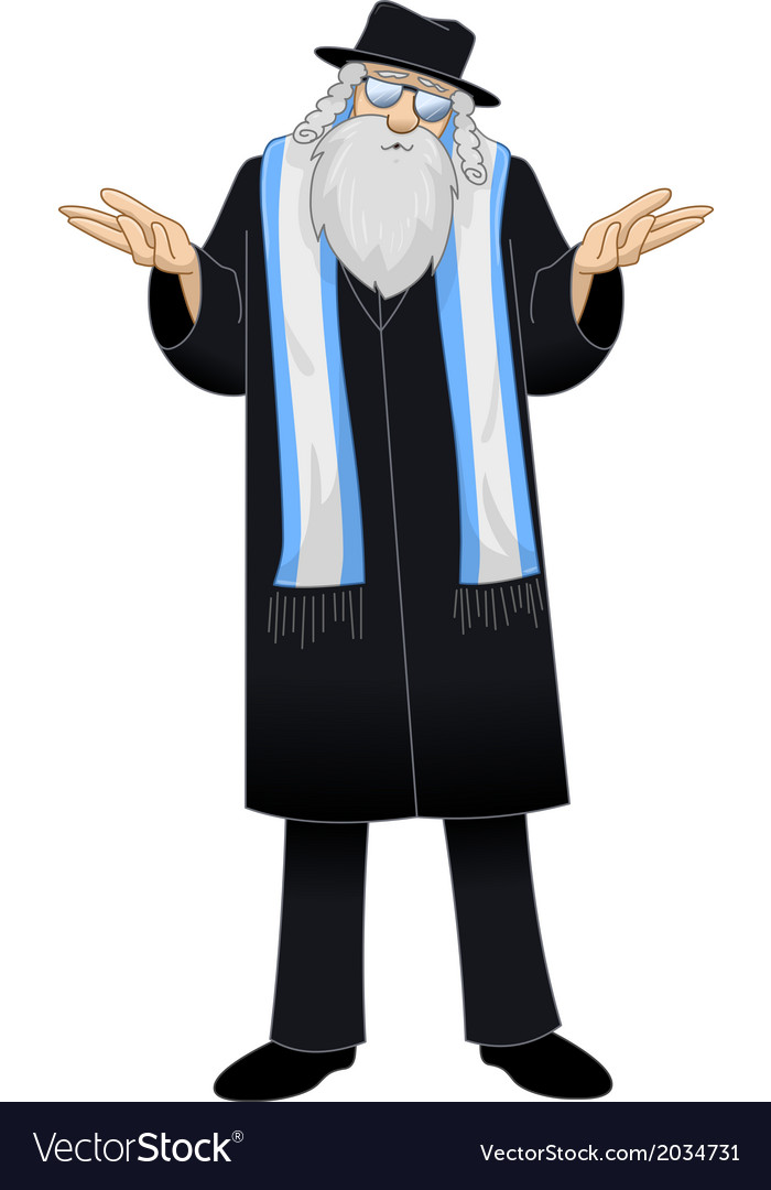 Rabbi with talit is unsure vector | Price: 1 Credit (USD $1)