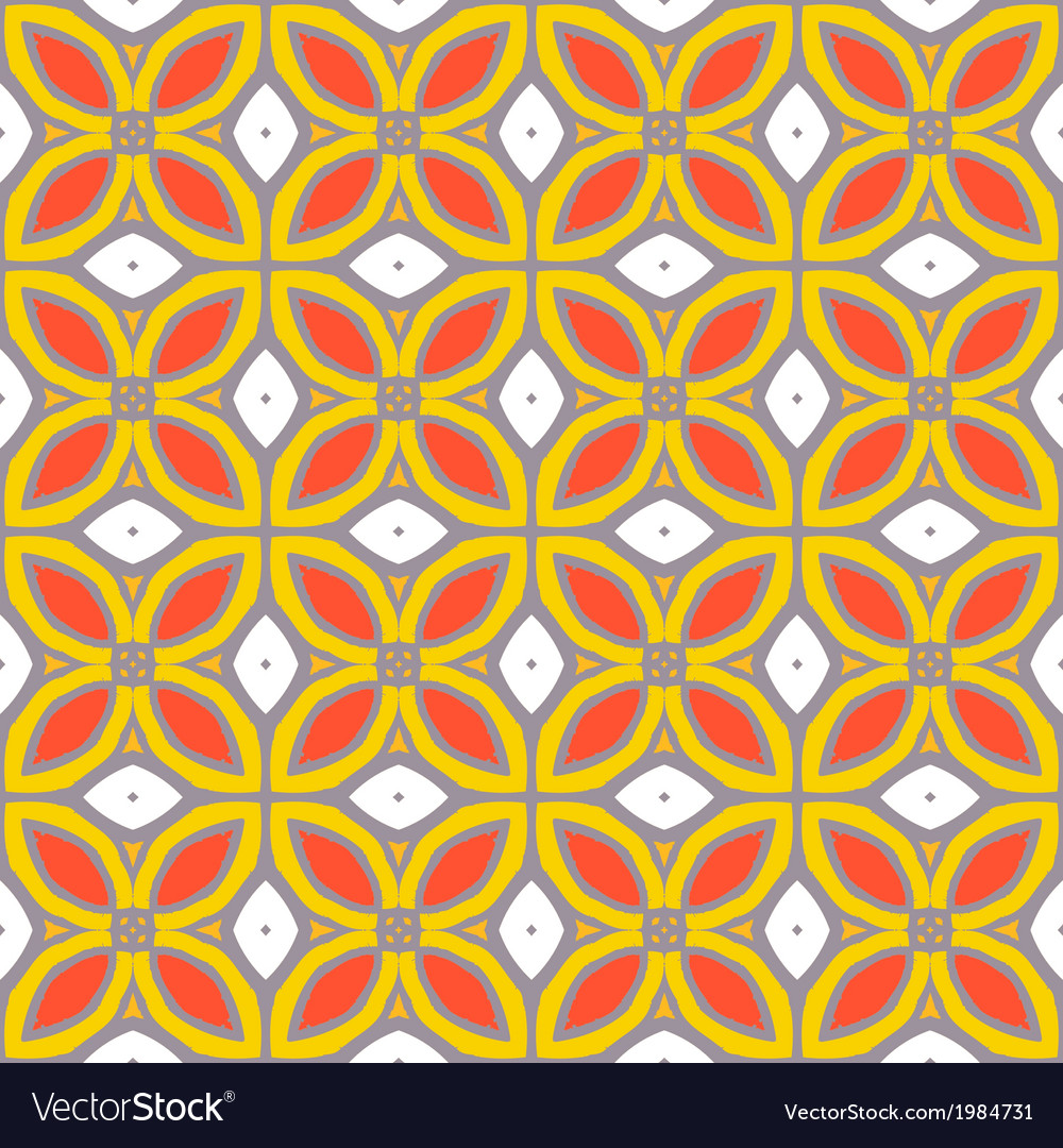 Seamless pattern with bold geometric shapes vector | Price: 1 Credit (USD $1)