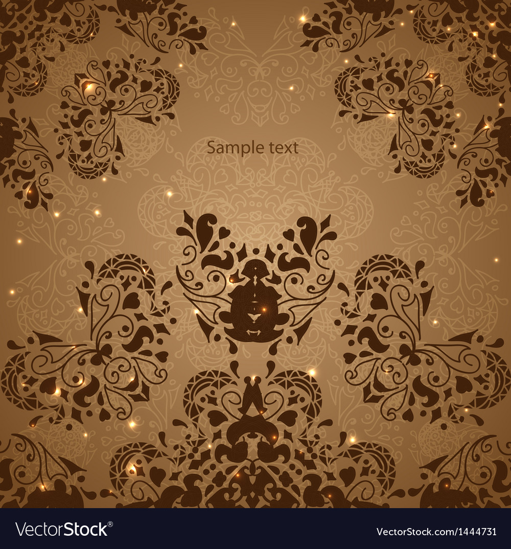 Vintage indian ornament vector   Price: 1 Credit (USD $1)