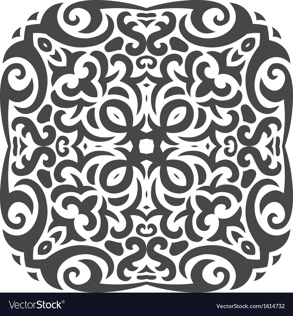 Abstract mehndi tattoo ornament vector | Price: 1 Credit (USD $1)
