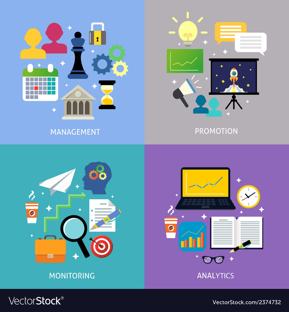 Business steps concept flat vector   Price: 1 Credit (USD $1)