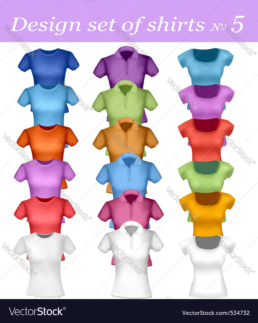 Color men and women polo shirt vector   Price: 1 Credit (USD $1)