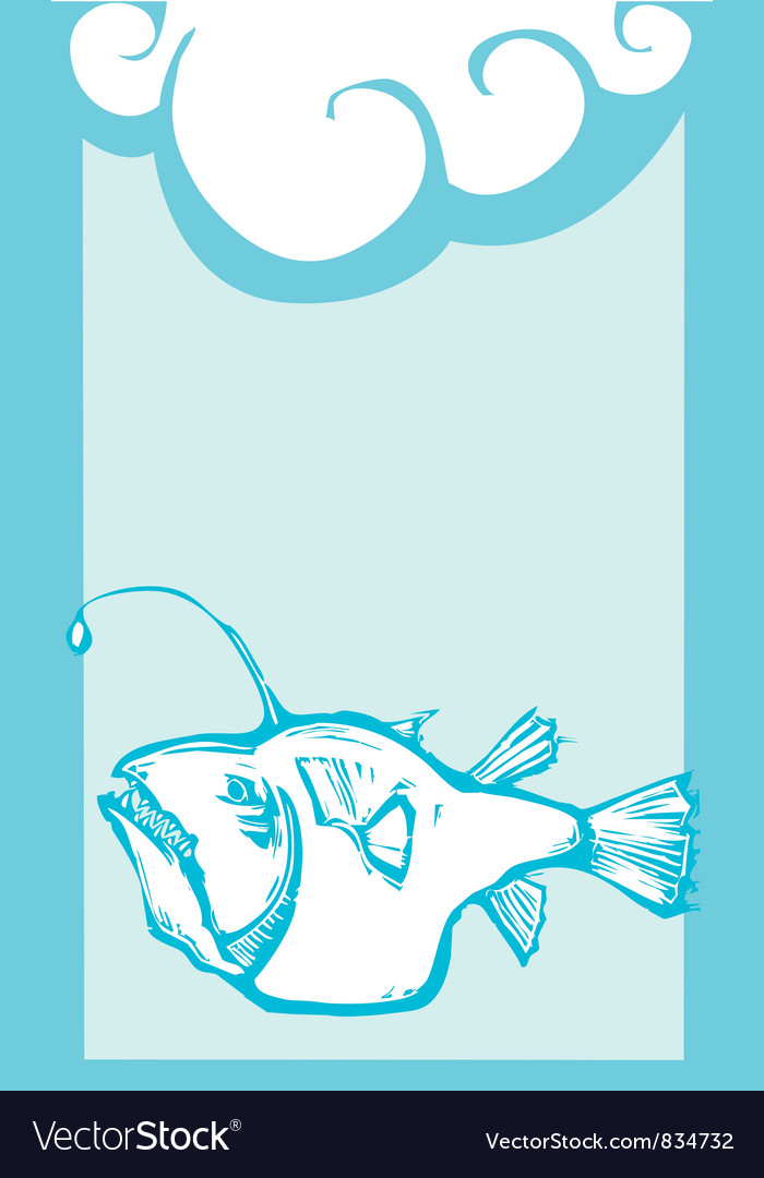 Deep sea angler vector | Price: 1 Credit (USD $1)