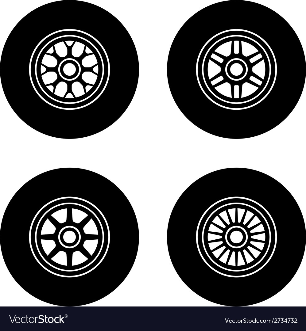 F1 wheel symbols vector | Price: 1 Credit (USD $1)