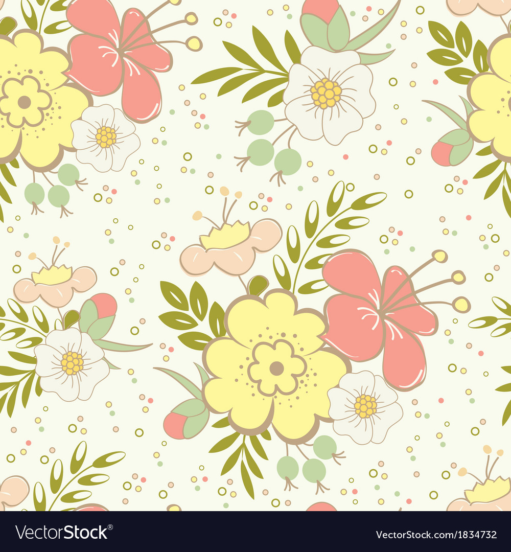 Floral saemless vector | Price: 1 Credit (USD $1)