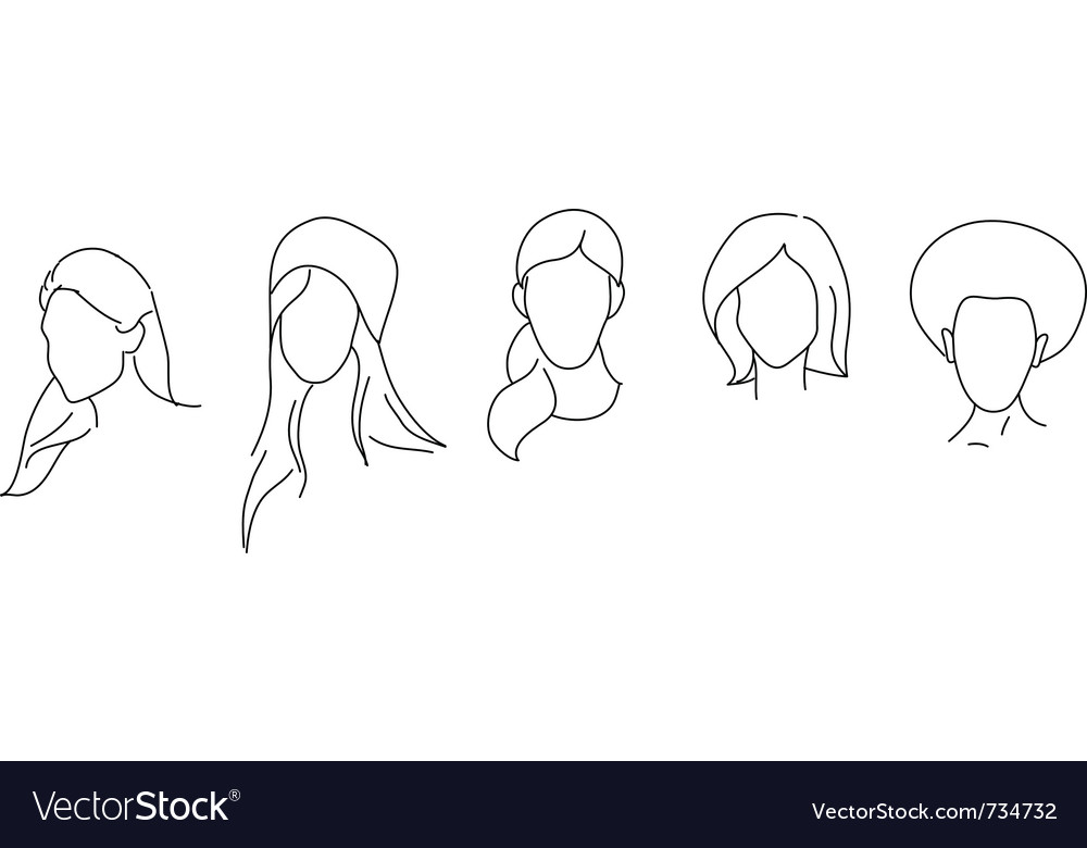 Hair style vector | Price: 1 Credit (USD $1)