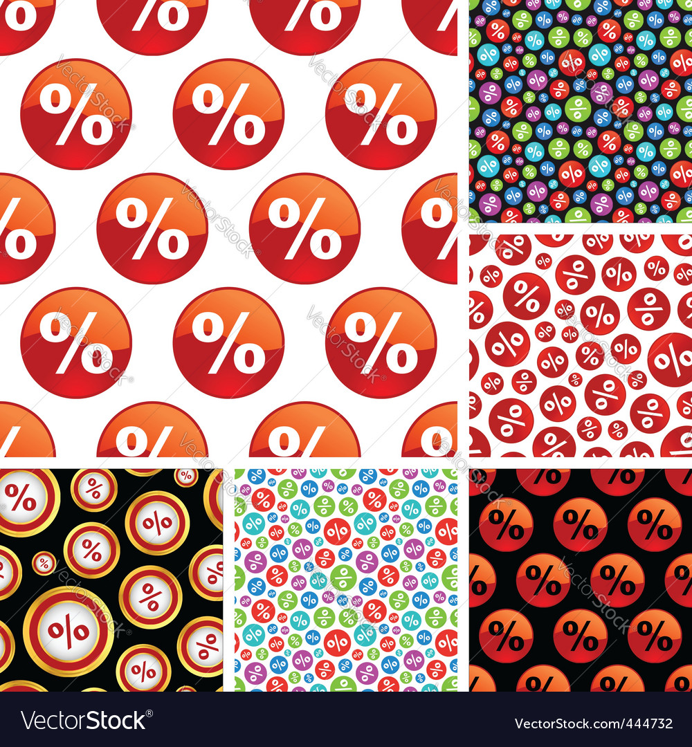 Percent symbol pattern vector | Price: 1 Credit (USD $1)