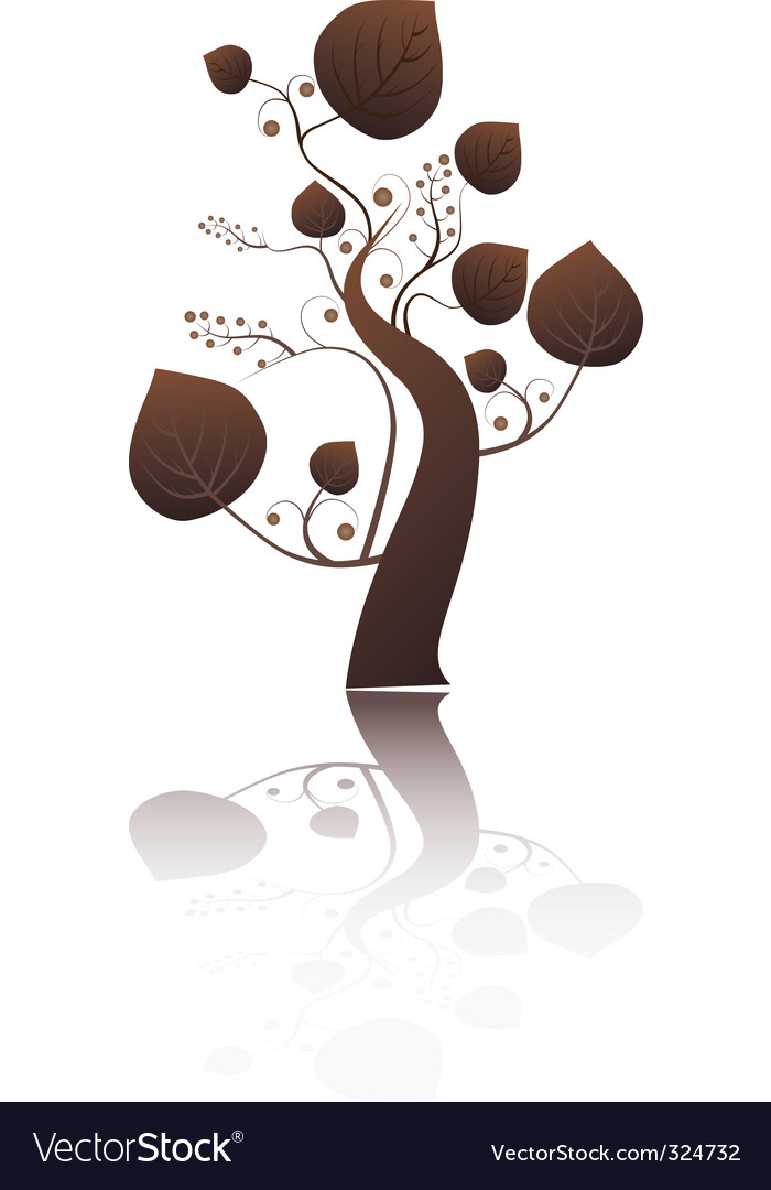 Stylized tree with leaves vector   Price: 1 Credit (USD $1)