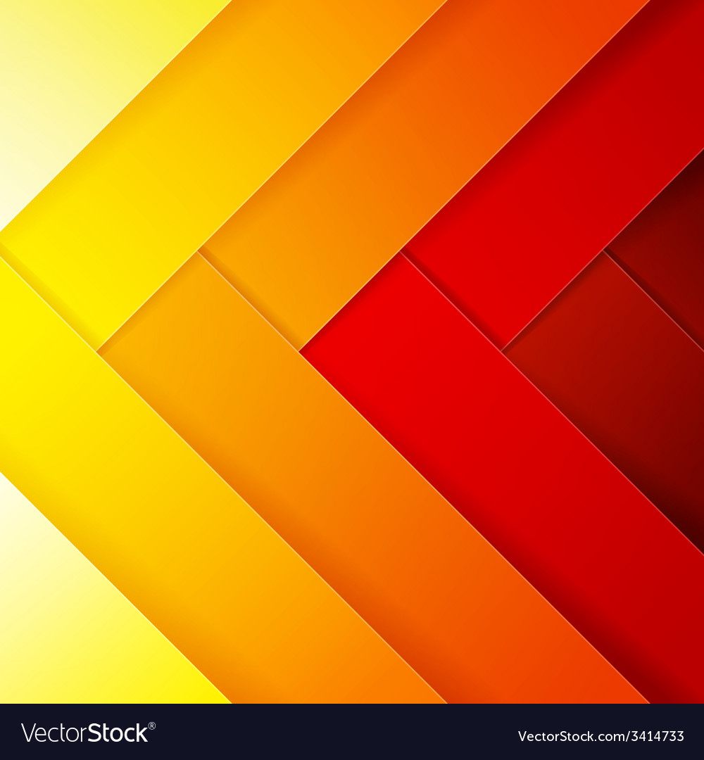 Abstract red orange and yellow crossing rectangle vector | Price: 1 Credit (USD $1)