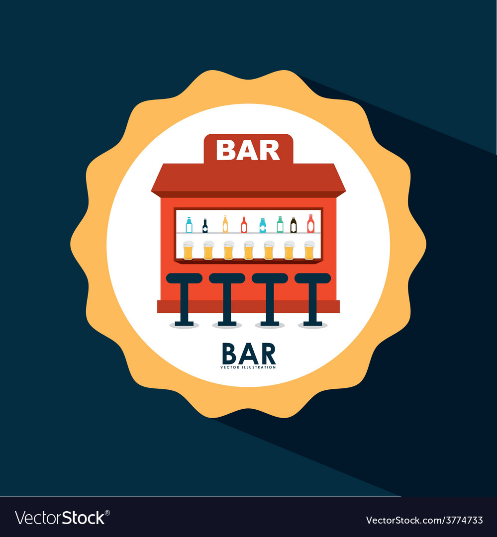 Bar icon design vector | Price: 1 Credit (USD $1)