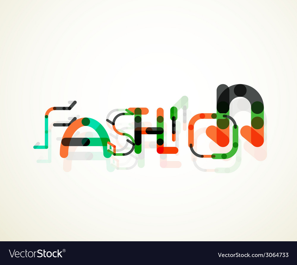Fashion word font concept vector | Price: 1 Credit (USD $1)