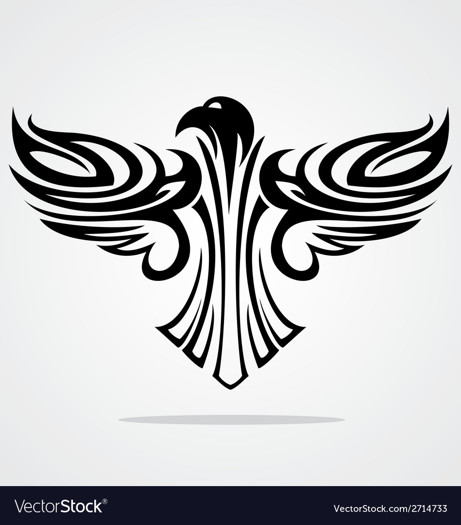 Flying eagle tribal vector | Price: 1 Credit (USD $1)